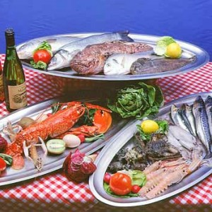 Grilled gold fish, sea-bass or sole fish