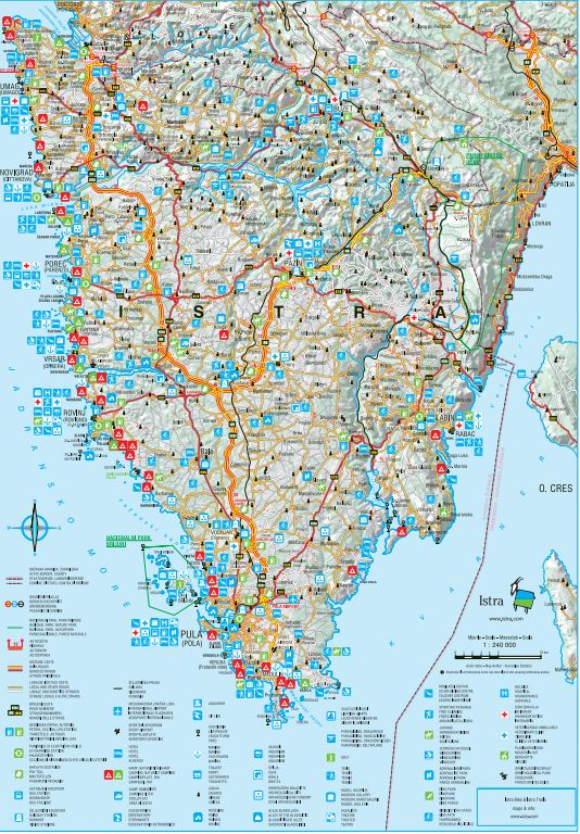 Istria I Tourist map