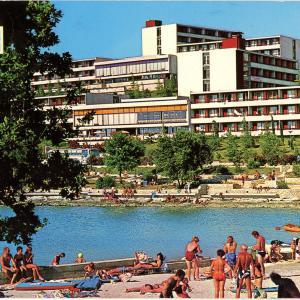 Poreč beaches in the 1970s
