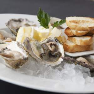 Scallops, mussels or oysters