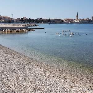 Public beach beneath the Valamar Zagreb Hotel