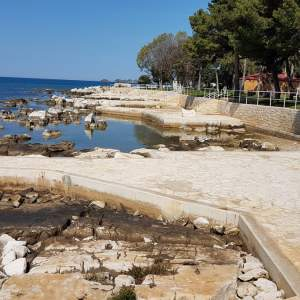 Town Beach below the Valamar Parentino Hotel