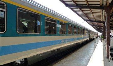 Arriving in Poreč by train