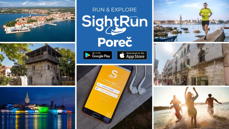 Discover Poreč running with SightRun App