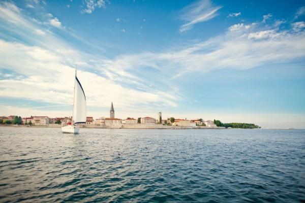 Arriving in Poreč by boat